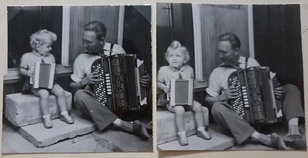 Werners orkester_Anita & morfar Werner med sina dragspel_600