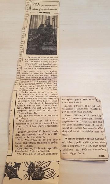 Werners orkester_tidningsurklipp_600