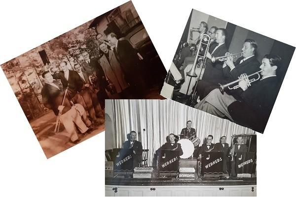 Werners orkester_utomhus-på scen-blåssektion_600