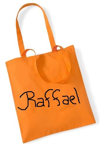 Rsb_tysk orange tygkasse_märkt Raffael
